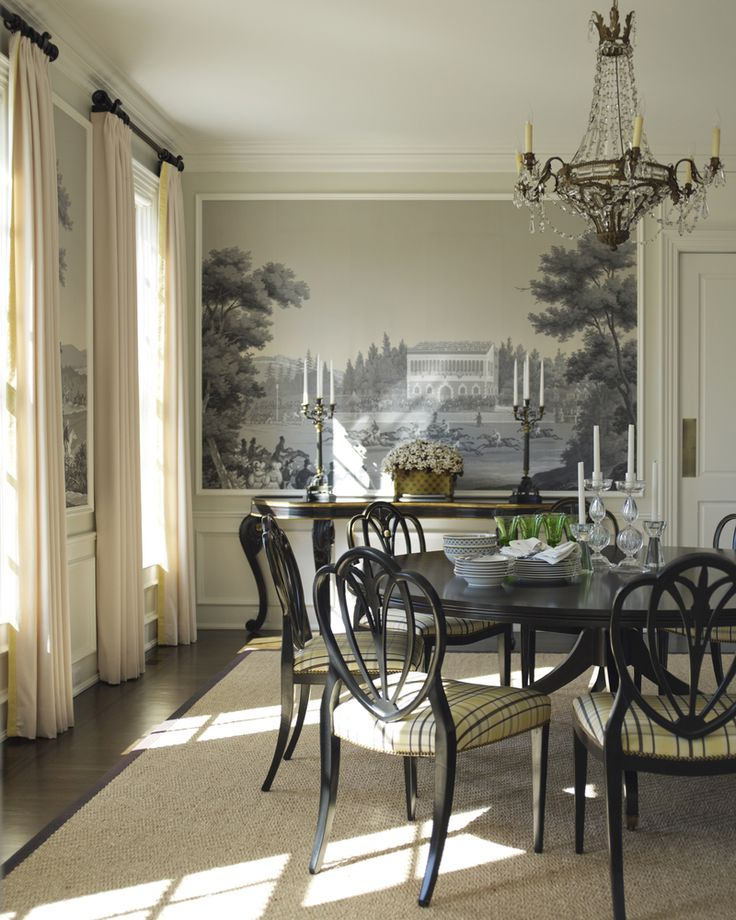 533 Best Dining Rooms Images On Pinterest: 1000+ Ideas About Dining Room Wallpaper On Pinterest