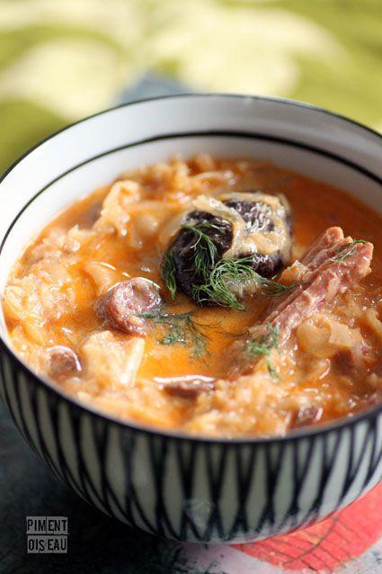 Kapustnica: soupe slovaque à la choucroute - slovakian sauerkraut soup - We make this every Christmas Eve :)