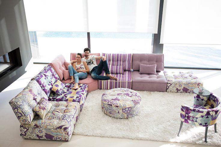 Colorful sectional sofa #furniture #design #sofa #modular