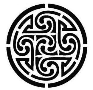 """""""Tetraskel"""" , se le conoce mejor por """"Svástica"""" y tiene diferentes significados según la cultura que se desee, con el que más se le relaciona es con los cuatro elementos (aire, agua, fuego y tierra) uno por cada brazo"""