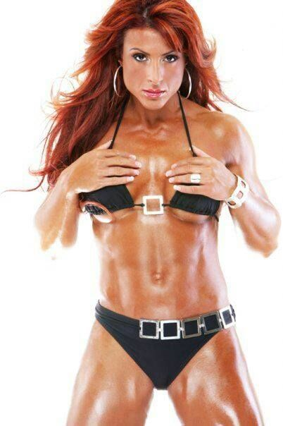 Female muscle babe ginger martin has an amazing body - 3 10