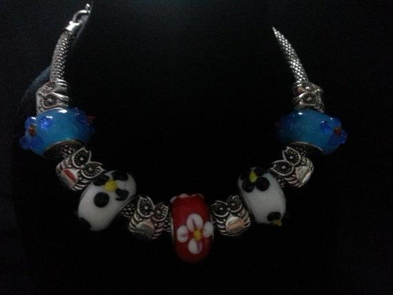 European Bead Charm Bracelet by CavettaCreations on Etsy, $18.00