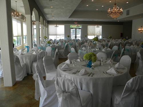 Banquet Hall Design for Jenny & Josh's Wedding, 2013.