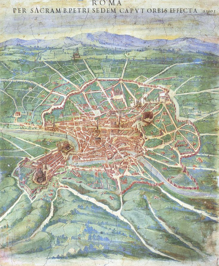 Vatican Gallery of Maps Roma detail