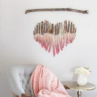 This makes my <3 sing! http://www.ehow.com/how_2227693_art-piece-using-tree-branches.html?crlt.pid=camp.CXyAjsLPVR2o #DIY #crafts #handmade