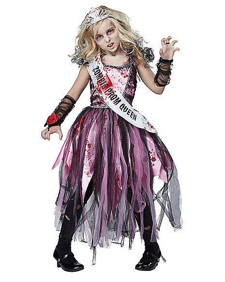 Kids Zombie Prom Queen Costume - Spirithalloween.com