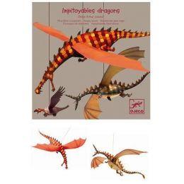 Papírové tvoření - Létající draci