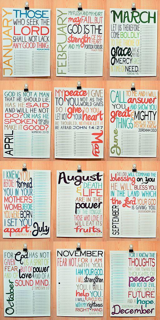 bible verse calendar