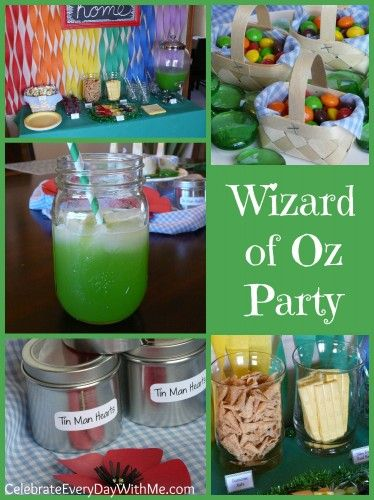 Wizard of Oz Party - decor, themed snacks and treats