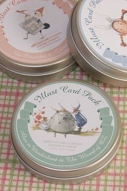 45pc Assorted Alice in Wonderland and Wizard of Oz Card & Sticker Set