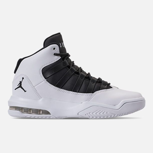 0cc582e62f Right view of Boys' Big Kids' Air Jordan Max Aura Basketball Shoes in  White/Black