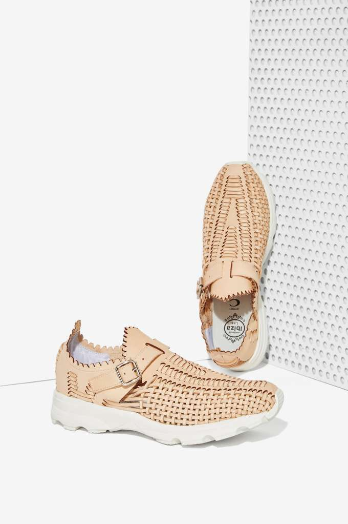 Woven Nude Leather Sneaker -----Jeffrey Campbell