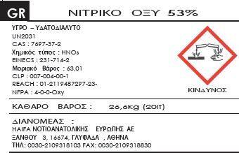 Λιπάσματα: Νιτρικό Οξύ (Nitric Acid)