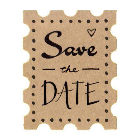 """Set di 24 1,5"""" vasta salvare gli adesivi di Kraft timbro data / carta Kraft / busta guarnizioni / etichette / regalo abbellimento / nozze francobolli"""