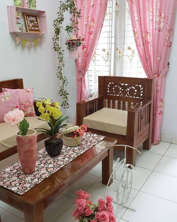Dekorasi Ruang Tamu Minimalis  Dengan Tanaman Bunga Ruang