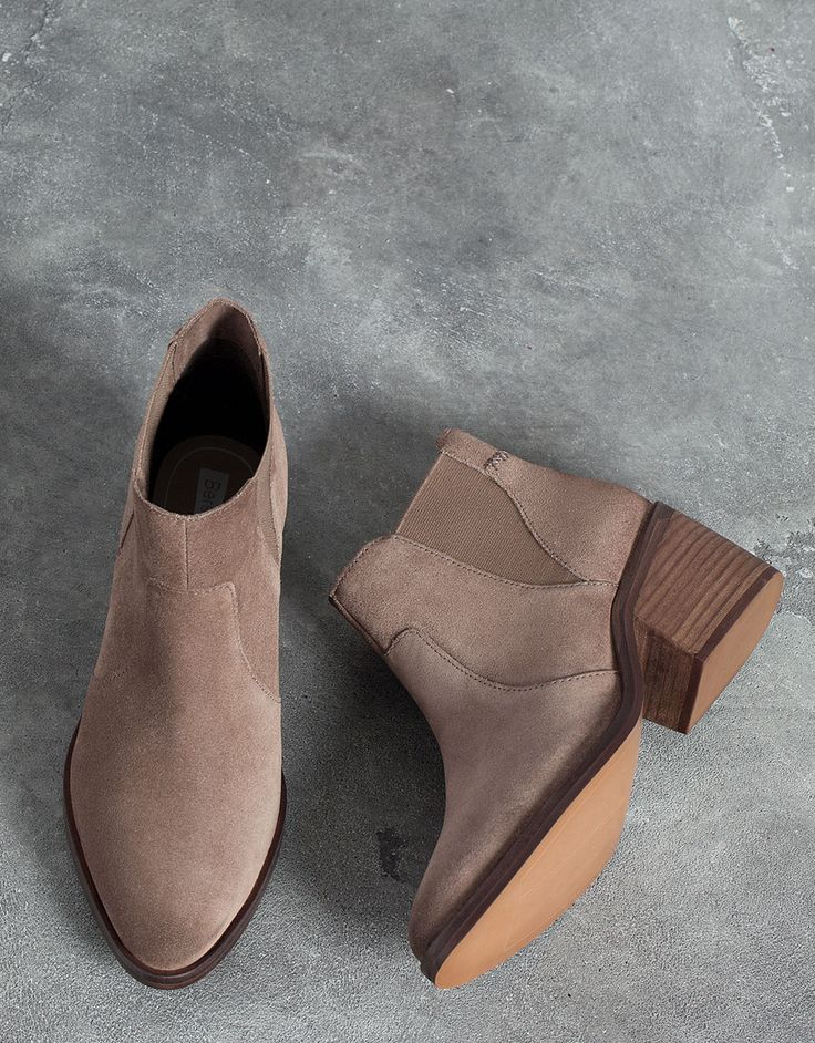 Bershka suede elastic ankle boot - Shoes - Bershka Tunisia