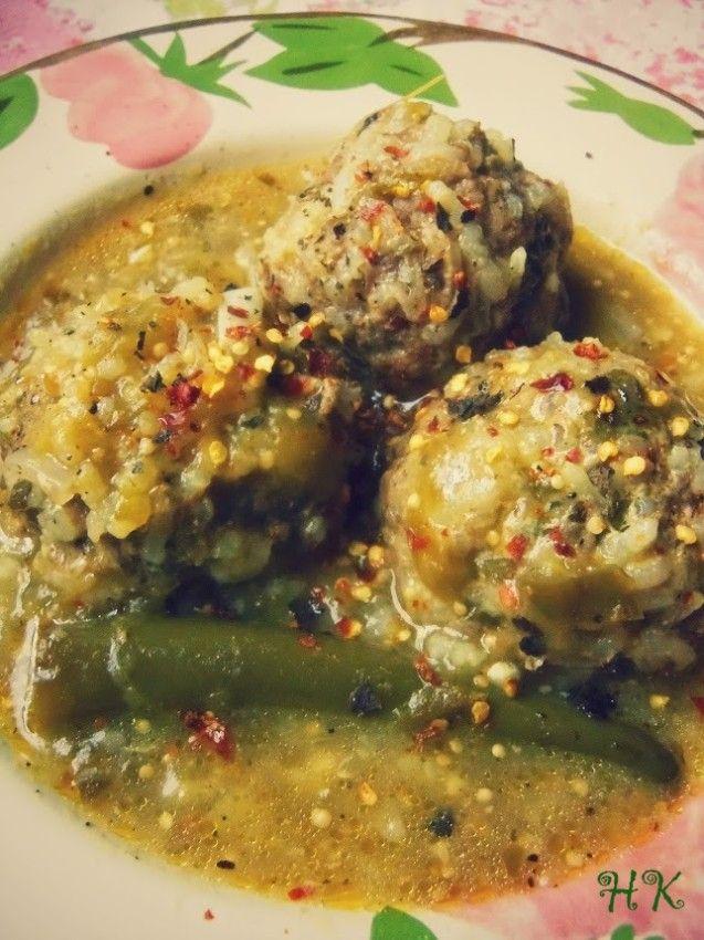 Albondigas en Salsa Verde (Meatballs in Tomatillo Salsa)   Hispanic Kitchen April 2015