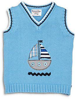 Infant's Sailboat Sweater Vest