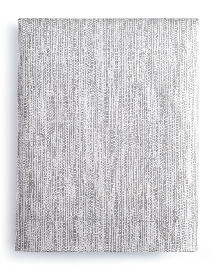 NEW Calvin Klein Alpine Meadow Woven Reed FOG Cotton  Queen Flat Sheet $100 #CalvinKlein #Modern