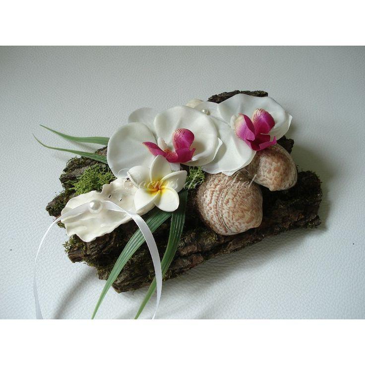 FLORIE - Un porte alliances coloré idéal pour un mariage au thème exotique  ♥ Coeurs de Miel - Créateur de bijoux et d'accessoires pour le mariage ♥