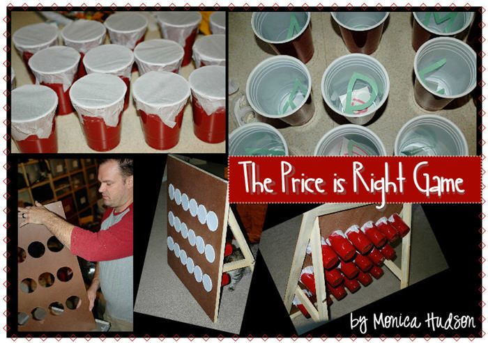 The Price is Right Game Place prizes in the cups $5 a turn