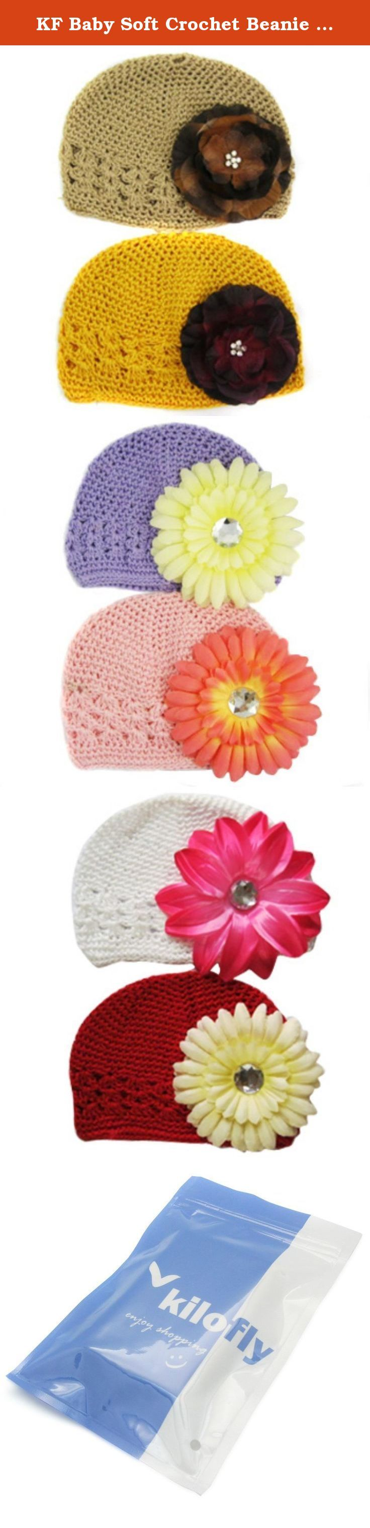 KF Baby Soft Crochet Beanie Hat with Flower Clip, Set of 8 (8 Hats + 8 Clips). KF Baby Super Soft Crochet Beanie Hats with colorful flower clips are absolutely adorable on your darling little one! Just one of those finishing touch products that only a mother knows is sometimes necessary. A special event must have with an easy price. Definitely a great gift item when you do not have a clue what to get. Colors of hats and flower clips are as shown in photos. KF Baby is a trademark…