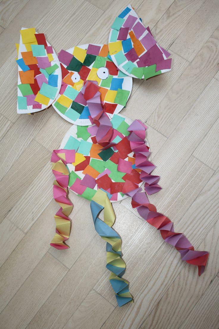 elmar basteln elefant kinder buch kreativ kunstprojekt kindergarten ideen zu kinderb cher. Black Bedroom Furniture Sets. Home Design Ideas