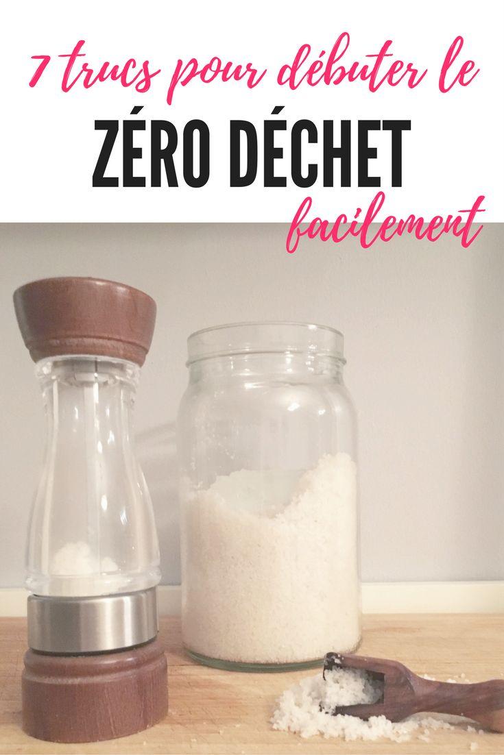 7 astuces faciles pour débuter le Zéro Déchet simplement en famille ou au bureau. / How to start a Zero Waste life at home. #zerodechet #zerowaste