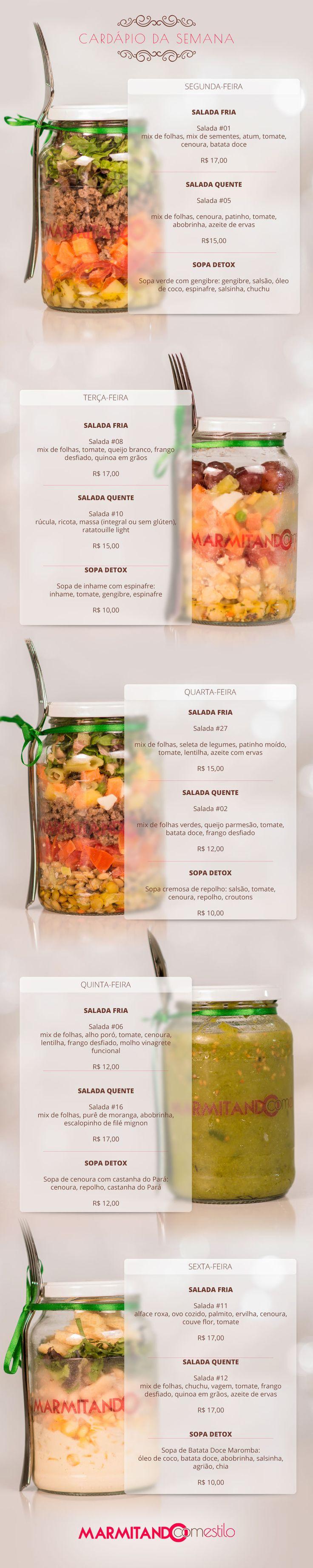 tipos de salada no pote #marmitando