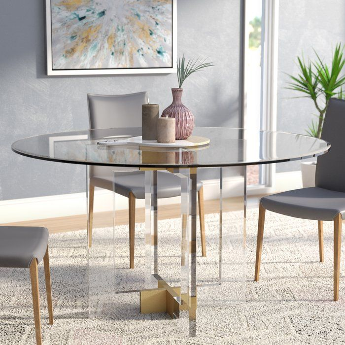 Gosta Round Glass Dining Table Glass Round Dining Table Round