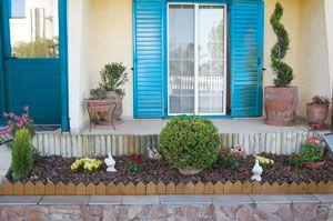 Mediterranean flowerbed
