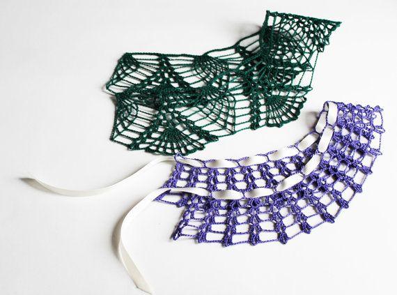 Colletto uncinetto in cotone, PERSONALIZZABILE su richiesta // Cotton crochet collar/necklace, CUSTOMIZABLE: contact us for your personal style! #collar #cotton #handmade #tradition #necklace #colletto #uncinetto #crochet #customizable #inspiring #dress #plaindress  Visit our shop at etsy.com/shop/gioiedigrazia