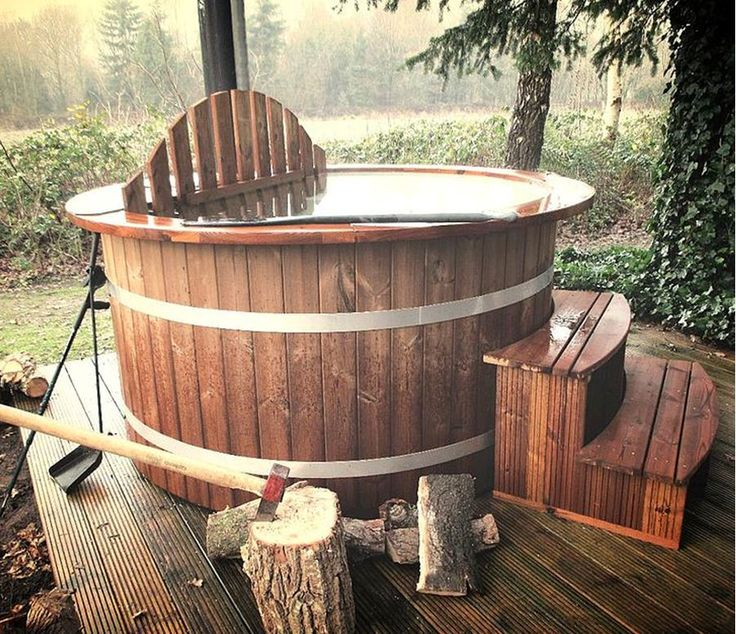 Penybanc Organic Farm, Carmarthenshire. Our beautiful new Scandinavian wood fired eco hot tub will be delivered in November. Heated by wood grown sustainably on site or in our neighbour's wood, it heats up in under three hours and will take up to seven people http://www.organicholidays.com/at/2845.htm