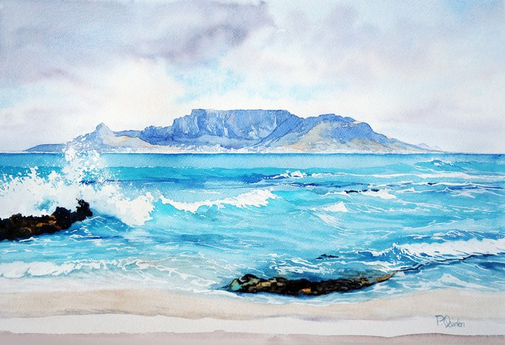 Water Colours (Table Mountain) 570 x 400 R2800.00 - Pamela Quinlan
