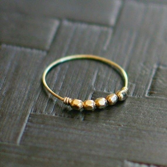 thin gold ring - she has silver as well and they stack so nicely! #etsy, #ring, #stacking
