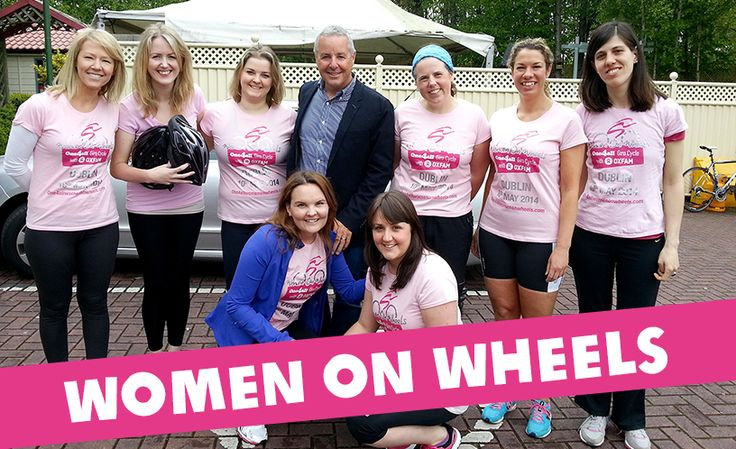 Our 'Women on Wheels' with cycling legend Stephen Roche this morning on Ireland AM.   Sign up now and help break the cycle of poverty with Oxfam: http://one4allwomenonwheels.com/ #giro2014