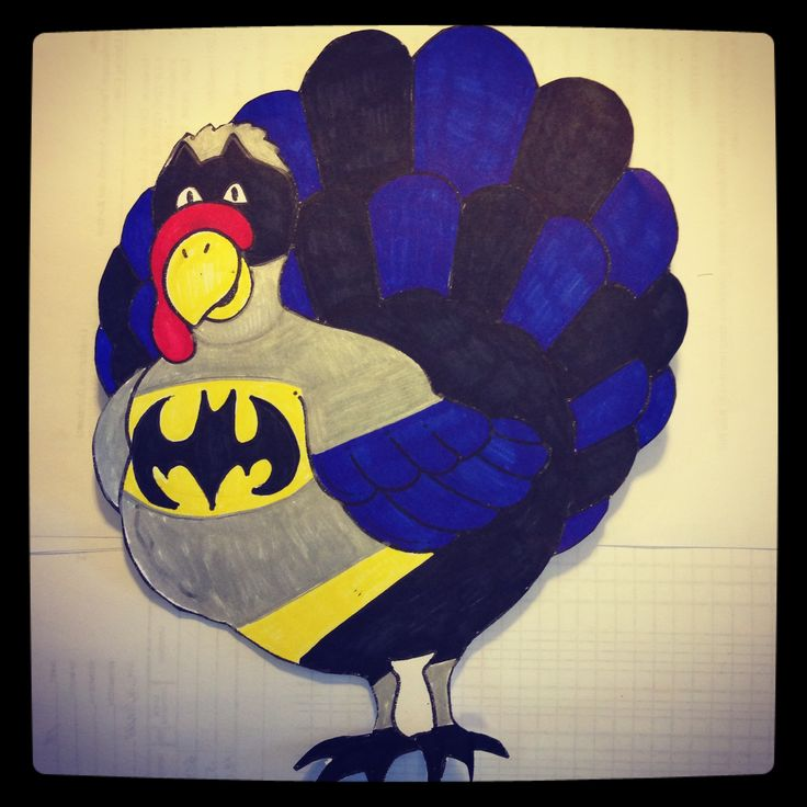 Disguise A Turkey Project Turkey Disguised As This One Is Batman