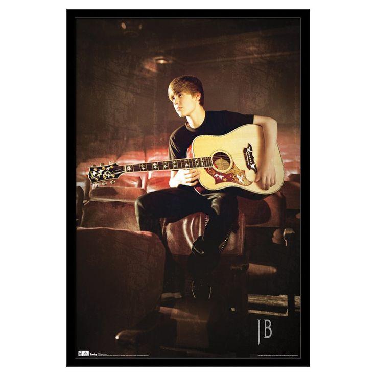 Trends International Justin Bieber Guitar Poster - FR2521BLK22X34
