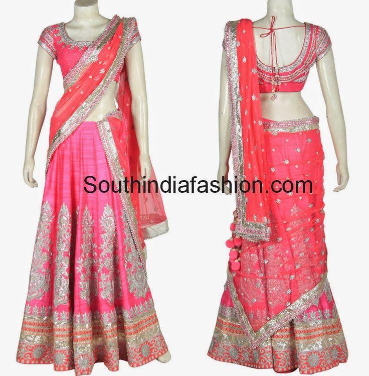 anita dongre bridal half sarees 2014