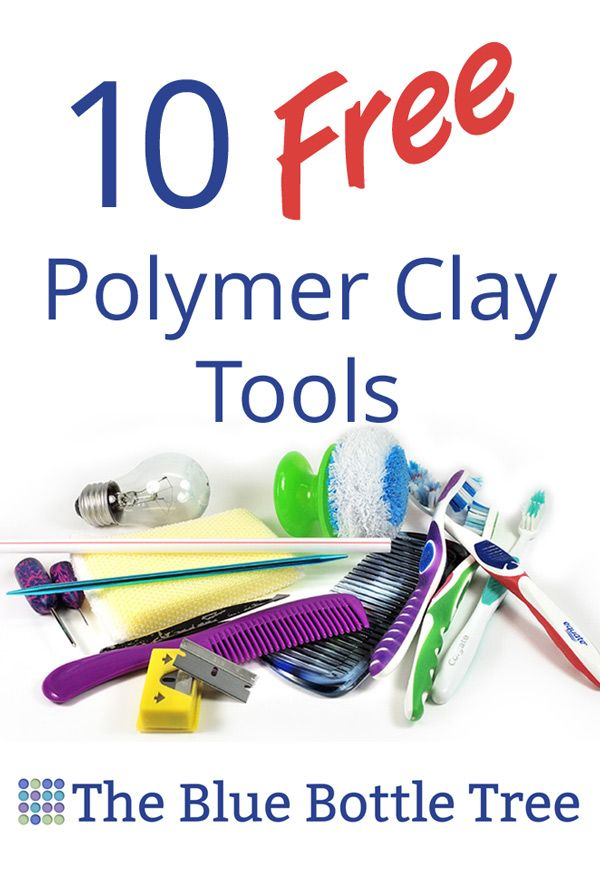 No need to spend big money on tools, look for these 10 free polymer clay tools from around the house.