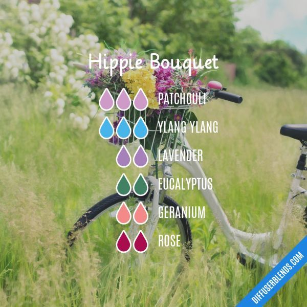 Hippie Bouquet Essential Oils Diffuser Blend ••• Buy dōTERRA essential oils online at www.mydoterra.com/suzysholar, or contact me suzy.sholar@gmail.com for more info.