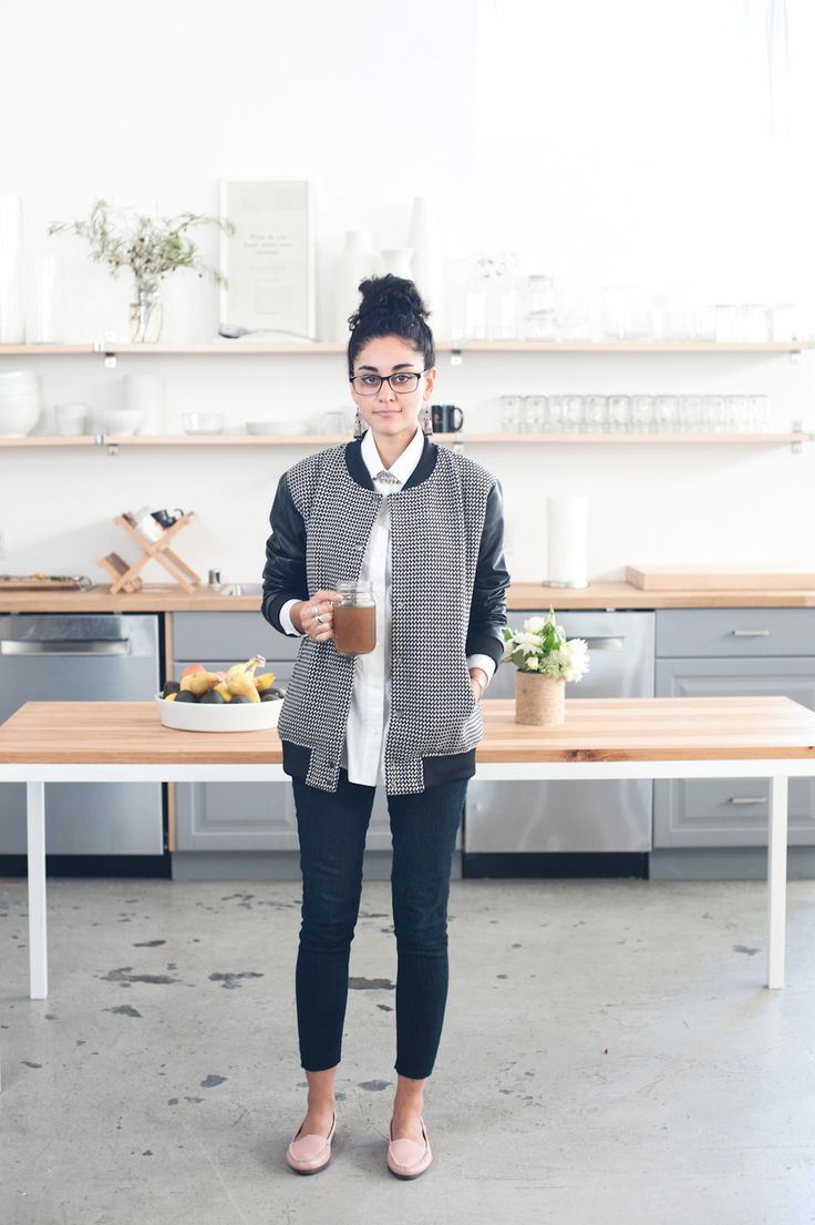 """How To Master Minimalist Dressing, The Everlane Way #refinery29 http://www.refinery29.com/minimalism-everlane-office#slide16 Name: Hawa Arsala Position: Studio assistant What's your one tip for minimalist dressing? """"Adding a statement piece to an outfit, whether it's a pattern, pop of color, or texture, is a great way to accentuate clean lines while adding a bit of your own personality. """" Tell us more about what you do at Everlane? """"I assist our creative project manager, Kiersten, with ..."""