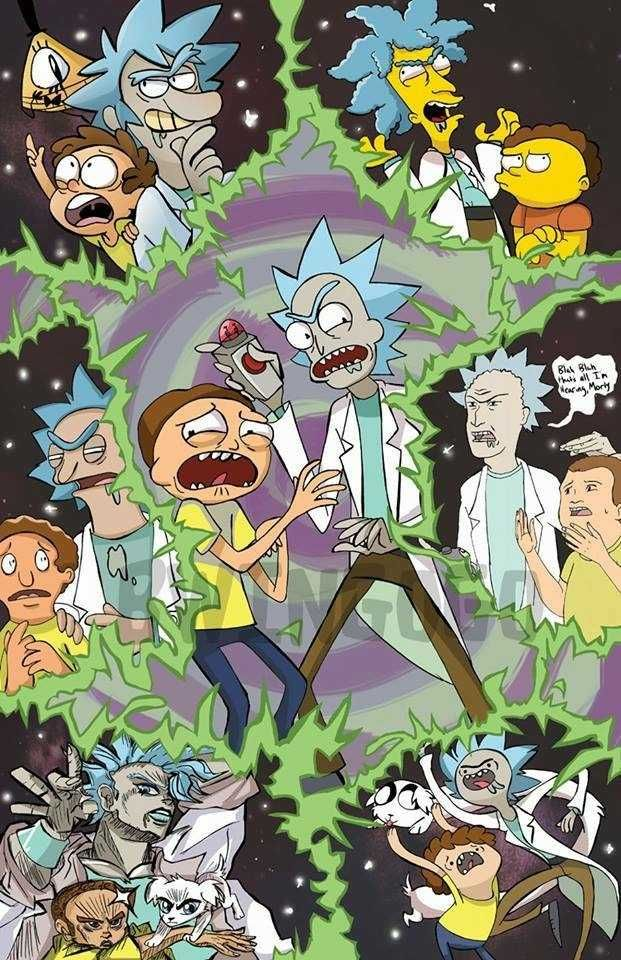 Small Rick Morty Dump Rick And Morty Poster Cartoon Rick And Morty