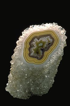 Quartz crystal/agate cylinder