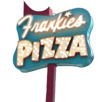 Frankie's Pizza. Squares-- get me some while you're there!  Unfussy