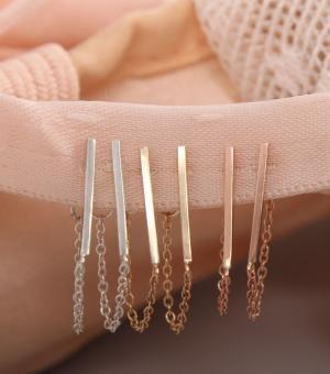 Catbird::Catbird Jewelry::Ballerina Earrings, 14k Rose Gold