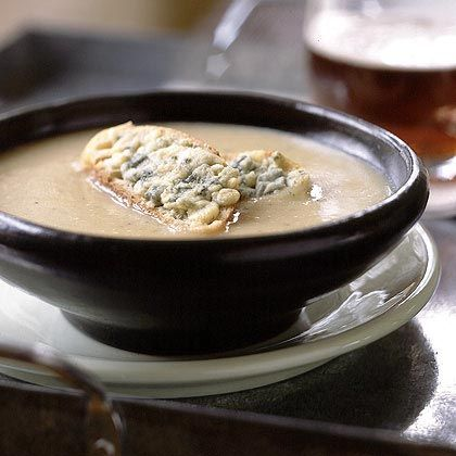 garlic and shallot potato soup with cheesy croutons roasted garlic ...