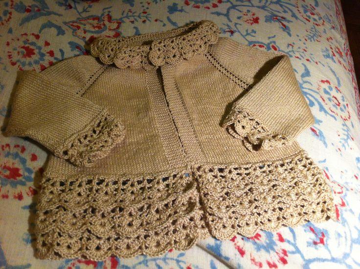 Chaleco palillo + crochet