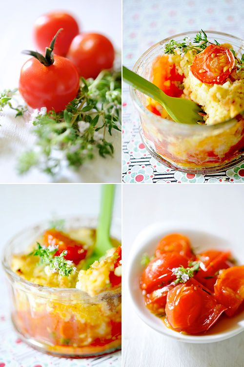 Crumble de tomates cerises