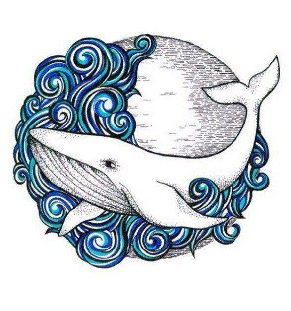 Картинка кита в лампе